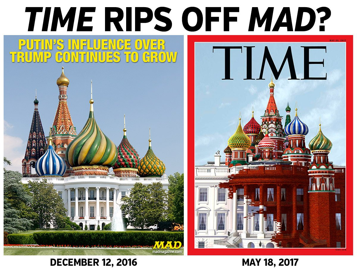 Once More, With Stealing Dept. TIME MAGAZINE RIPS OFF MAD MAGAZINE? https://t.co/dWYykrr4tJ https://t.co/bfYrj2DpUb