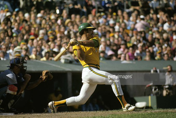 Happy 71st birthday to Mr October, Reggie Jackson, seen here in the 1973 World Series