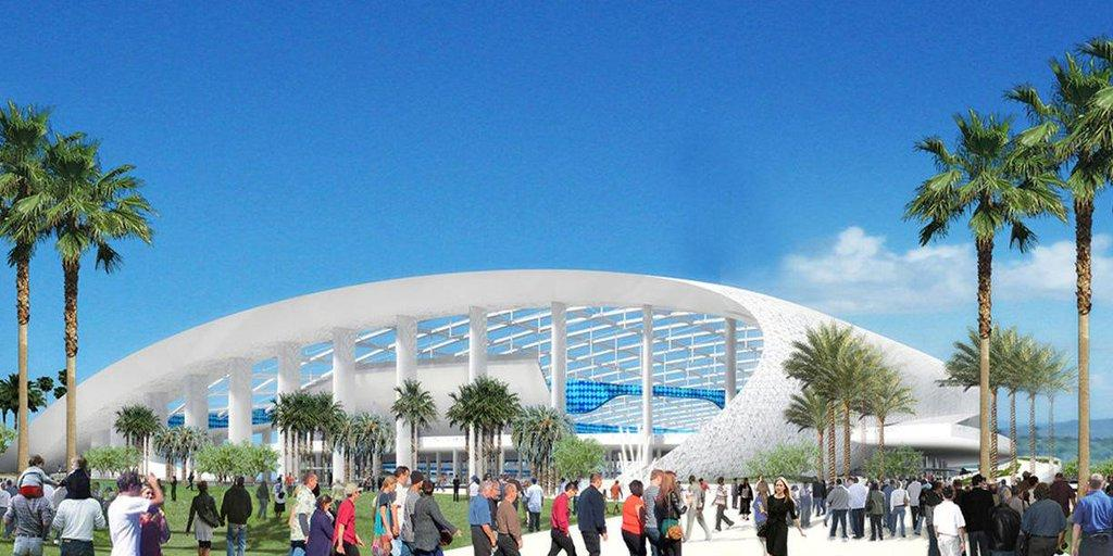 Opening of new Inglewood stadium delayed: https://t.co/fCGLllxSx8 https://t.co/pxClJXTbho