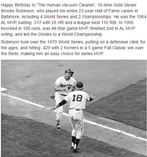 Happy Birthday Brooks Robinson!