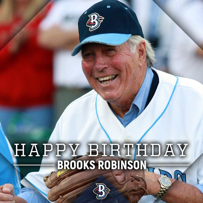 Happy birthday to the Hall Of Famer himself, Brooks Robinson!