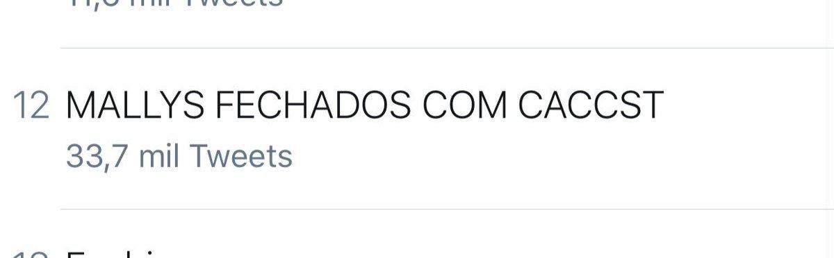 MALLYS FECHADOS COM CACCST