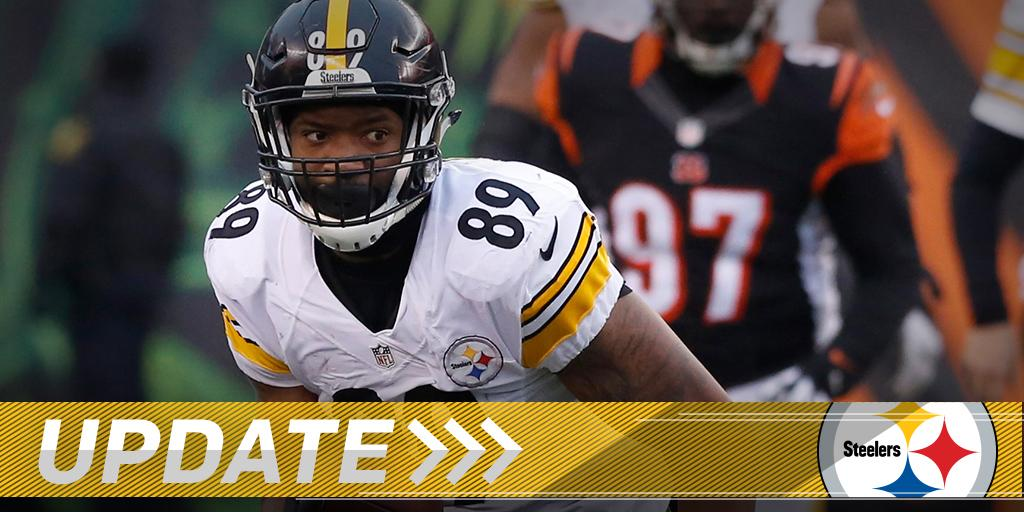 26-year-old TE released by the Steelers: https://t.co/9NbJXsXB52 https://t.co/SkQZ784lpm