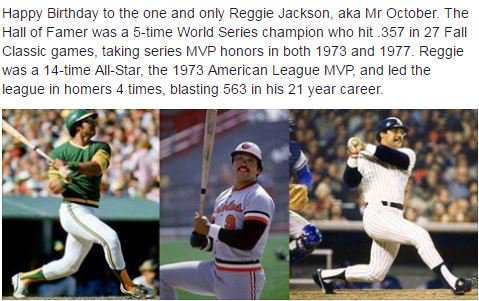 Happy Birthday to Reggie Jackson!