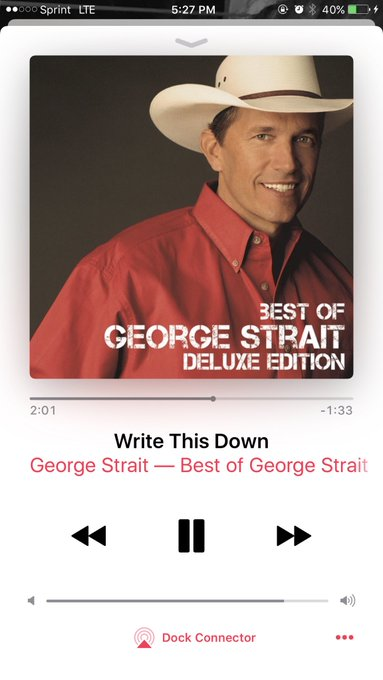 In honor of george strait birthday today, it\s only appropriate to play him all day. happy birthday king