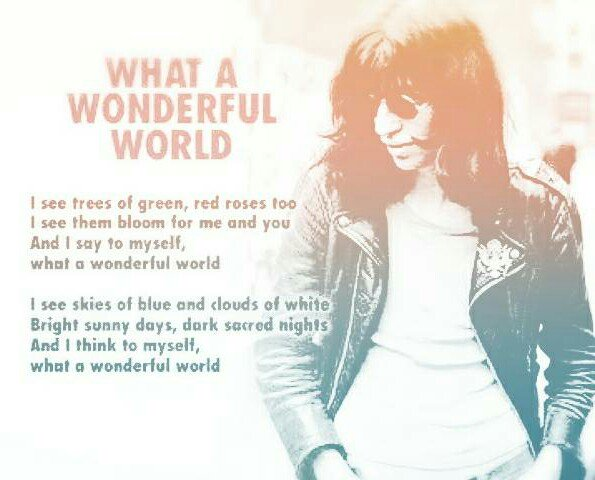 Joey  What A Wonderful World                          Happy Birthday!!!!  Joey Ramone
