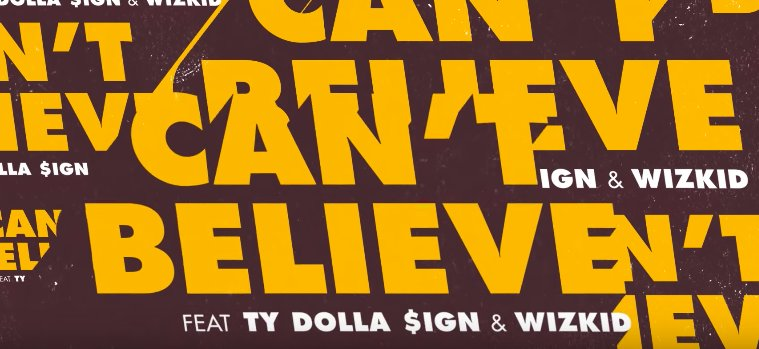.@therealkranium teams up with @tydollasign and @wizkidayo for 'Can't Believe.' https://t.co/ETZEkFZgSg https://t.co/oDv4KTiHSa