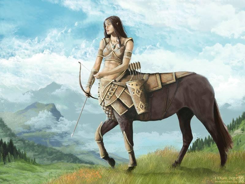 test Twitter Media - Mighty centaur huntress (Art by Janice Duke) #EllenRothAuthor https://t.co/FRD8rEVFio