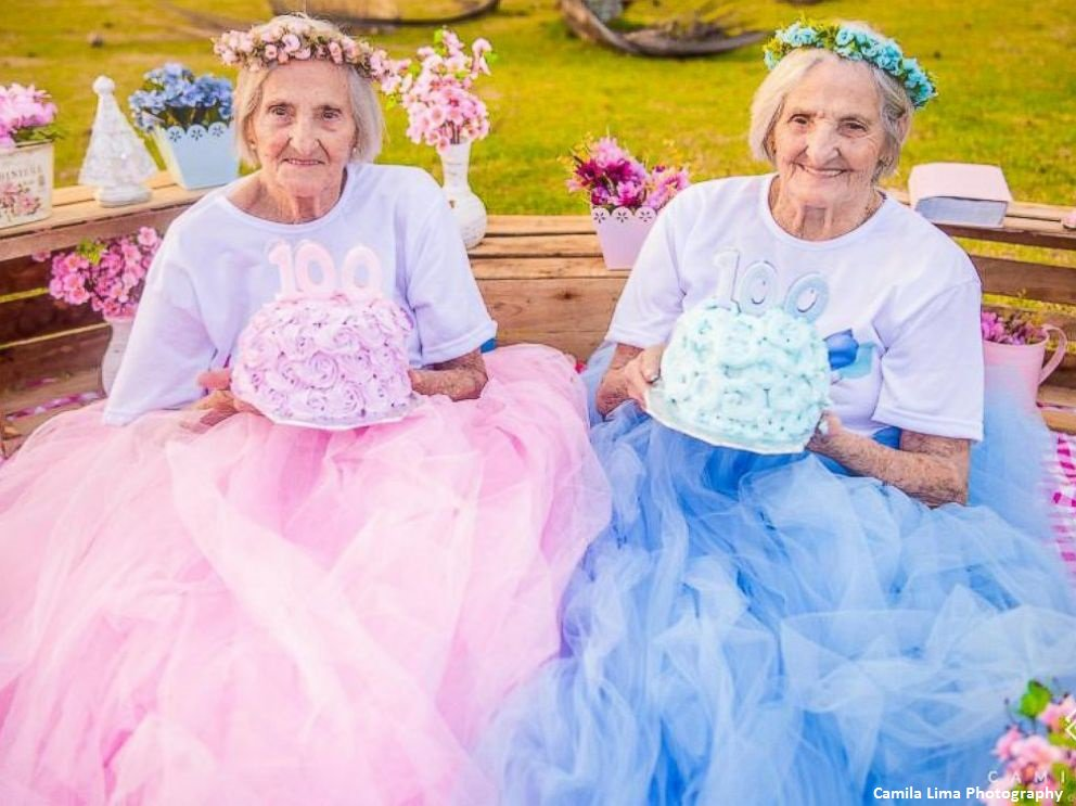 Twin sisters celebrate their 100th birthday with whimsical photo shoot in Brazil: https://t.co/kgQZswPJOR https://t.co/yPdSZu6sC1