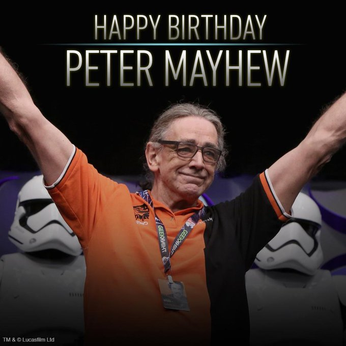 Happy birthday to our favorite giant fuzzball Wookiee, Peter Mayhew!