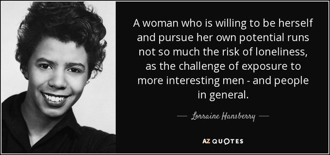 Happy birthday to the late Lorraine Hansberry!