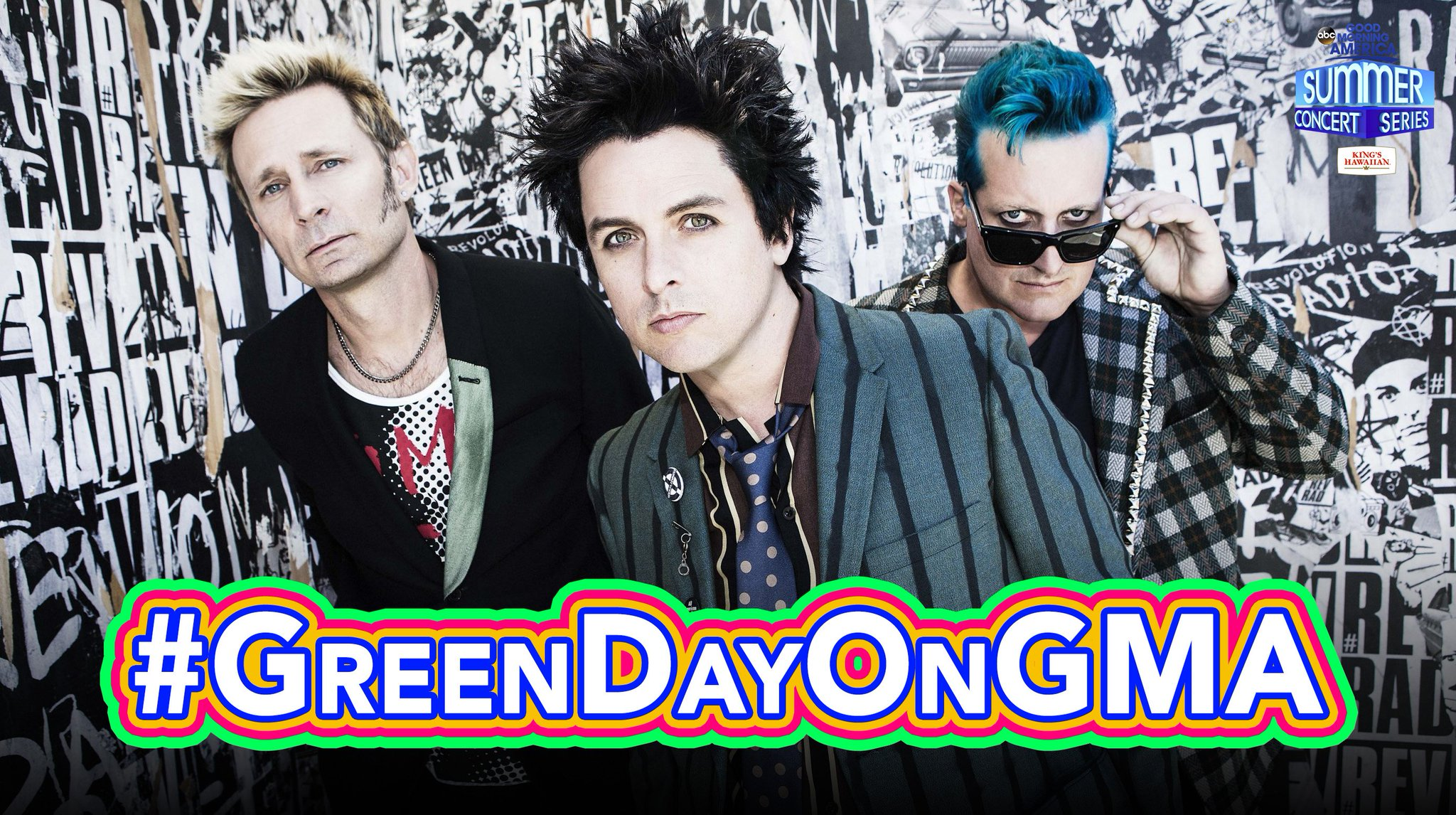 Retweet if you're excited for @GreenDay!  Tweet with #GreenDayOnGMA all morning long! https://t.co/gNlXAyL5aZ