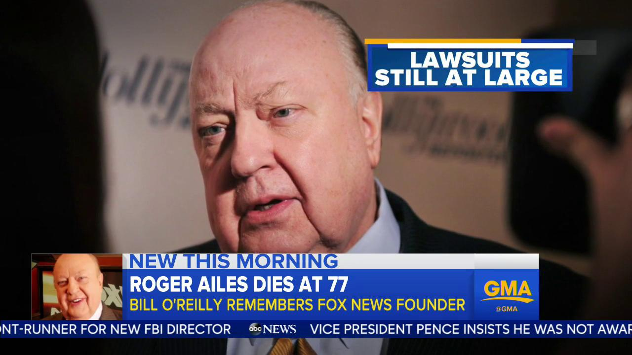 WATCH: Roger Ailes dies at 77; Bill O'Reilly remembers the Fox News founder: https://t.co/NtLav9kQgO https://t.co/ICajeDoEc9