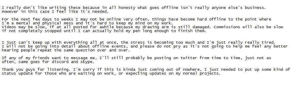 RT @binoftrash1: Important status update.  Hope everyone can understand ^^; https://t.co/uFLMJL2vB8