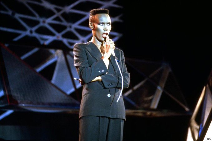 Happy birthday to singer Grace Jones, still \Nightclubbing\ aged 69.