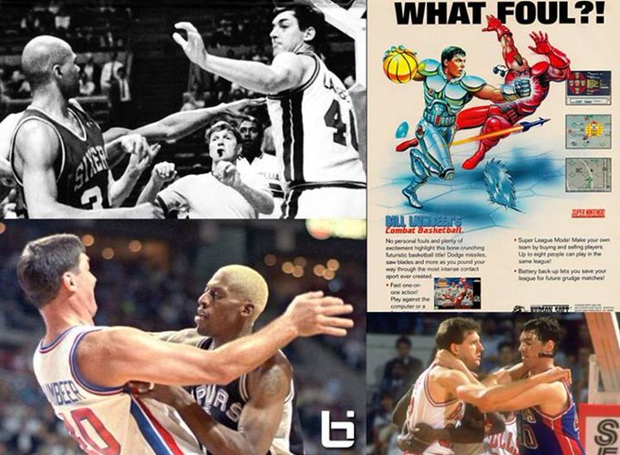 Happy Birthday to (dirtiest player ever?) Bill Laimbeer!  Best Fight Video: