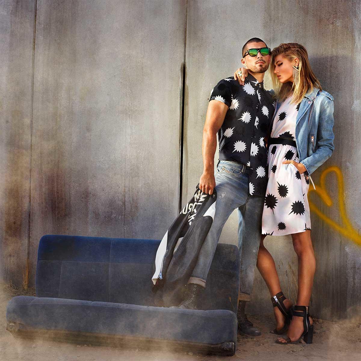 Throwback fashion, straight from 1980's #America. #MakeLoveNotWallas #Diesel #SS17   https://t.co/aSIldu9cUo https://t.co/1t5DEZ6P0c