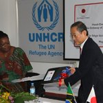 Japan contributes five new trucks to UNHCR to serve in refugees in camps