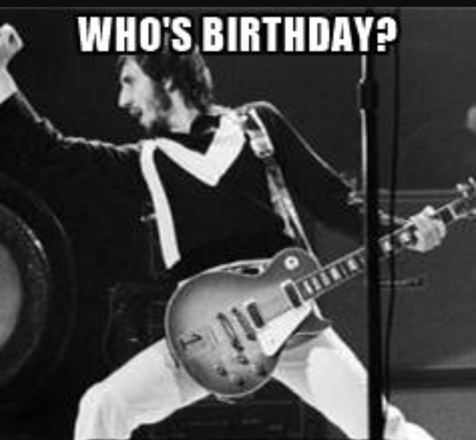 Happy Birthday Pete Townshend See you in Atlantic City