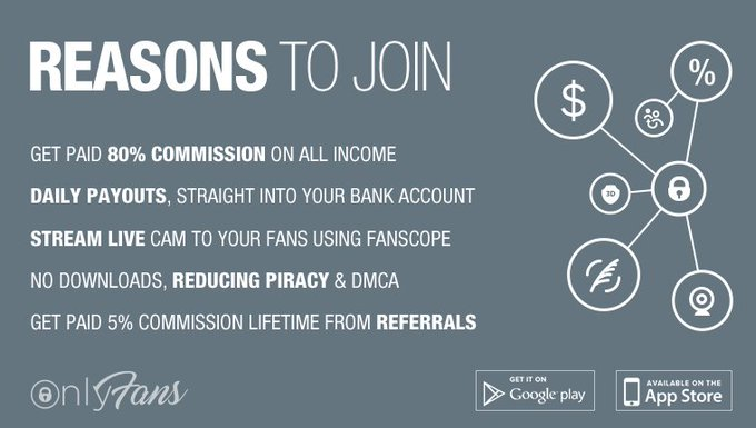 Join OnlyFans today, set a monthly subscription price and get paid for your content! https://t.co/jZIPupJYkQ
