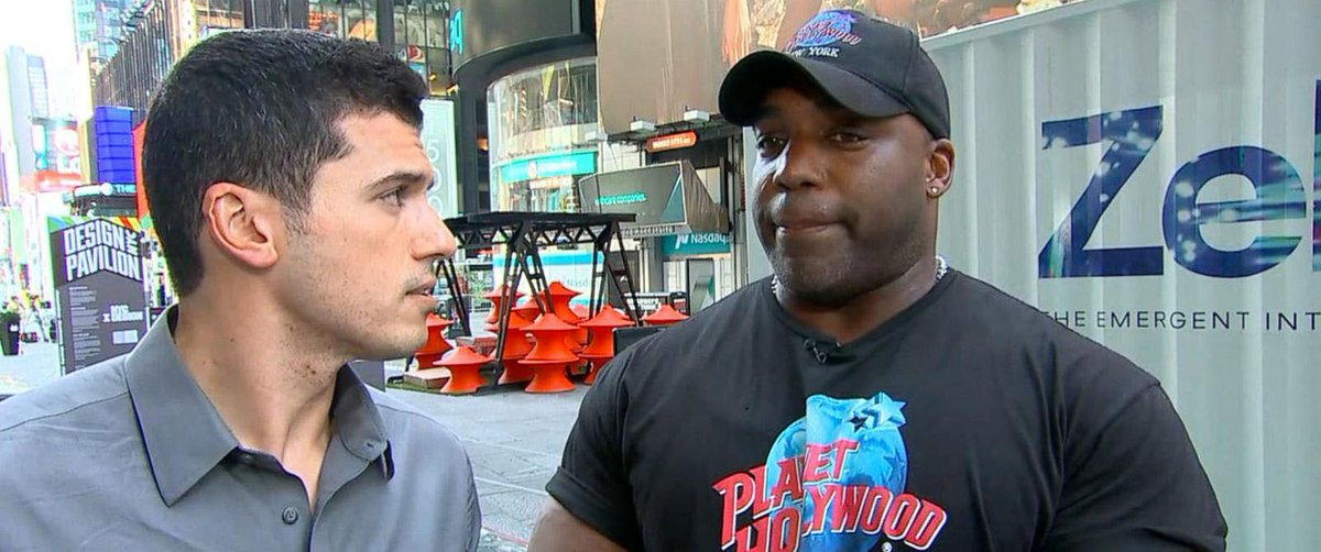 Planet Hollywood door supervisor credited with tackling driver in deadly Times Square crash.