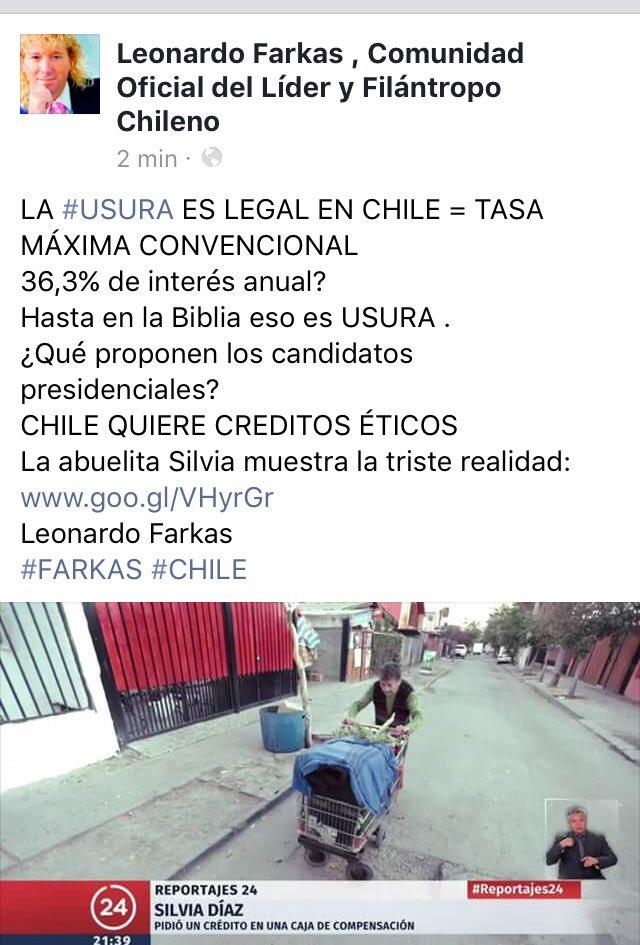 LA #USURA ES LEGAL EN CHILE = TMC ¡ 36,3% anual es un robo! ¿Qué proponen los candidatos presidenciales?  Silvia muestra la triste realidad https://t.co/pWQ5c64jqa