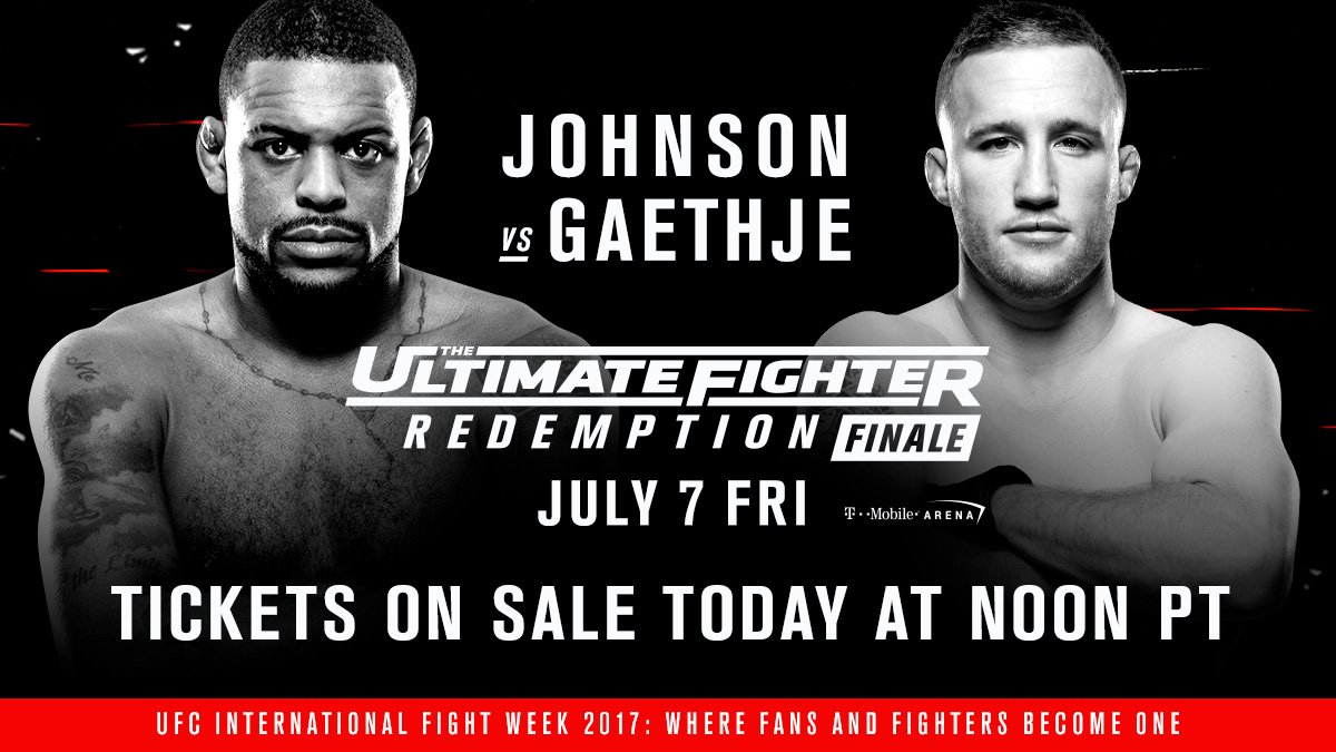 Johnson vs Gaethje tix on sale TODAY at noon PT �� https://t.co/uetobeq0jF @FollowTheMenace  vs @Justin_Gaethje https://t.co/Uglk1oSkvX