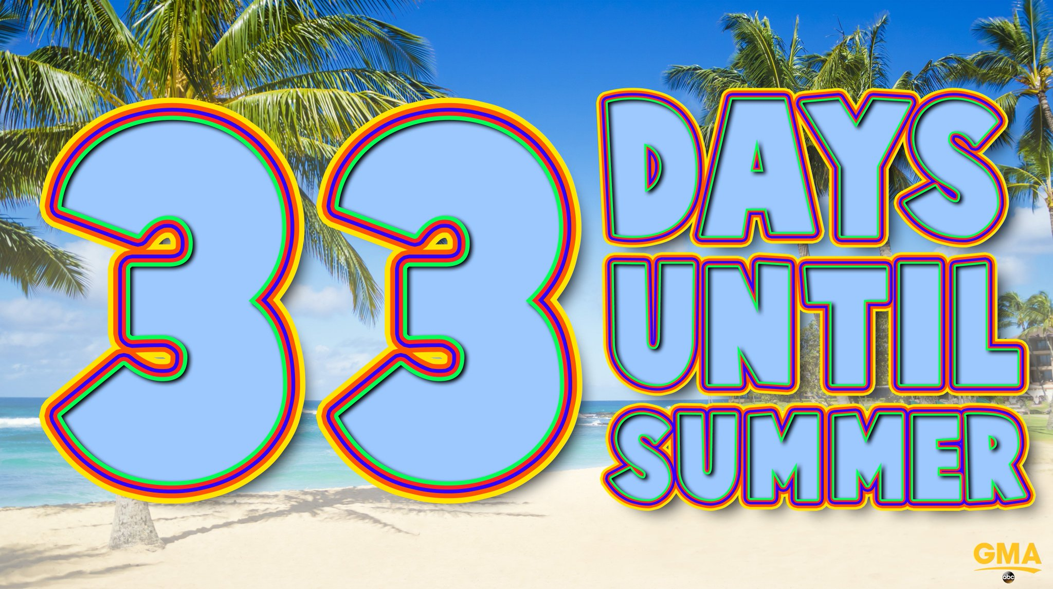 33 days until SUMMER! �� ☀️ https://t.co/evPM2L1tdJ