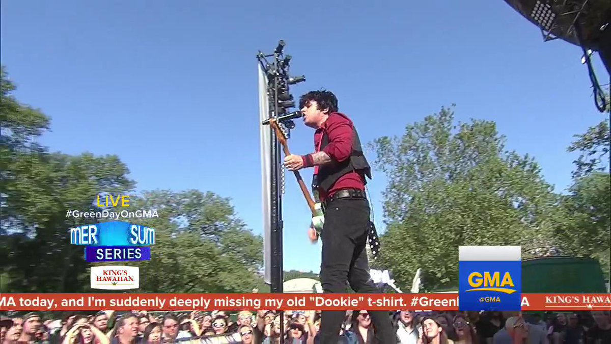 """WATCH @GreenDay performs """"Still Breathing"""" LIVE on @GMA.#GreenDayOnGMA"""