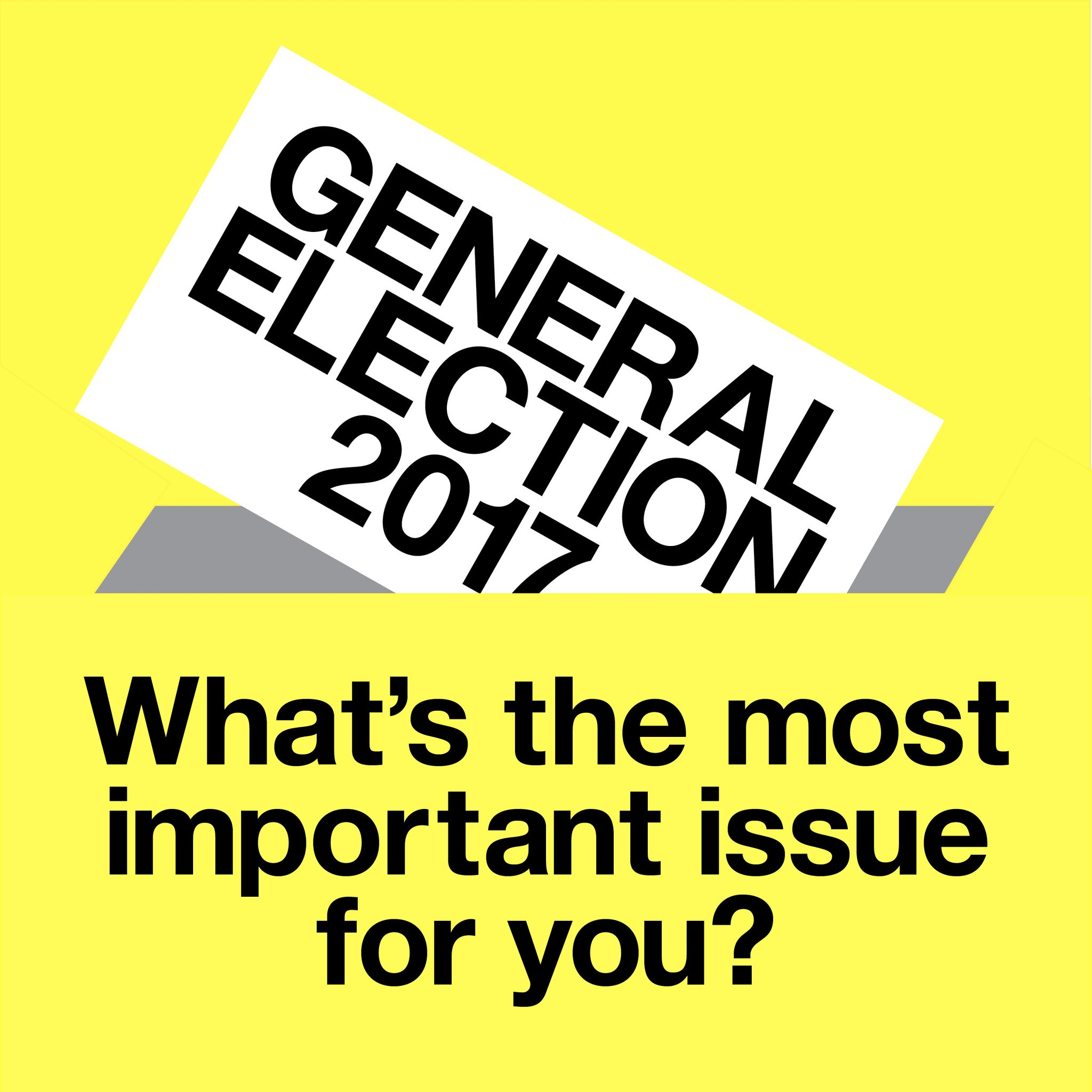 The NHS? Brexit? Housing? Let us know what vital issue is most important for you #GE2017 https://t.co/JFacjPKjKL