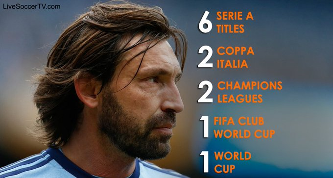 Happy birthday, Andrea Pirlo  The coolest footballer turns 3 8