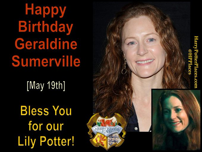 Happy Birthday to Geraldine Somerville (adult Lily Evans-Potter)