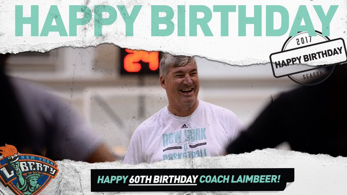 Join the Liberty in wishing a happy 60TH! birthday to head coach Bill Laimbeer!