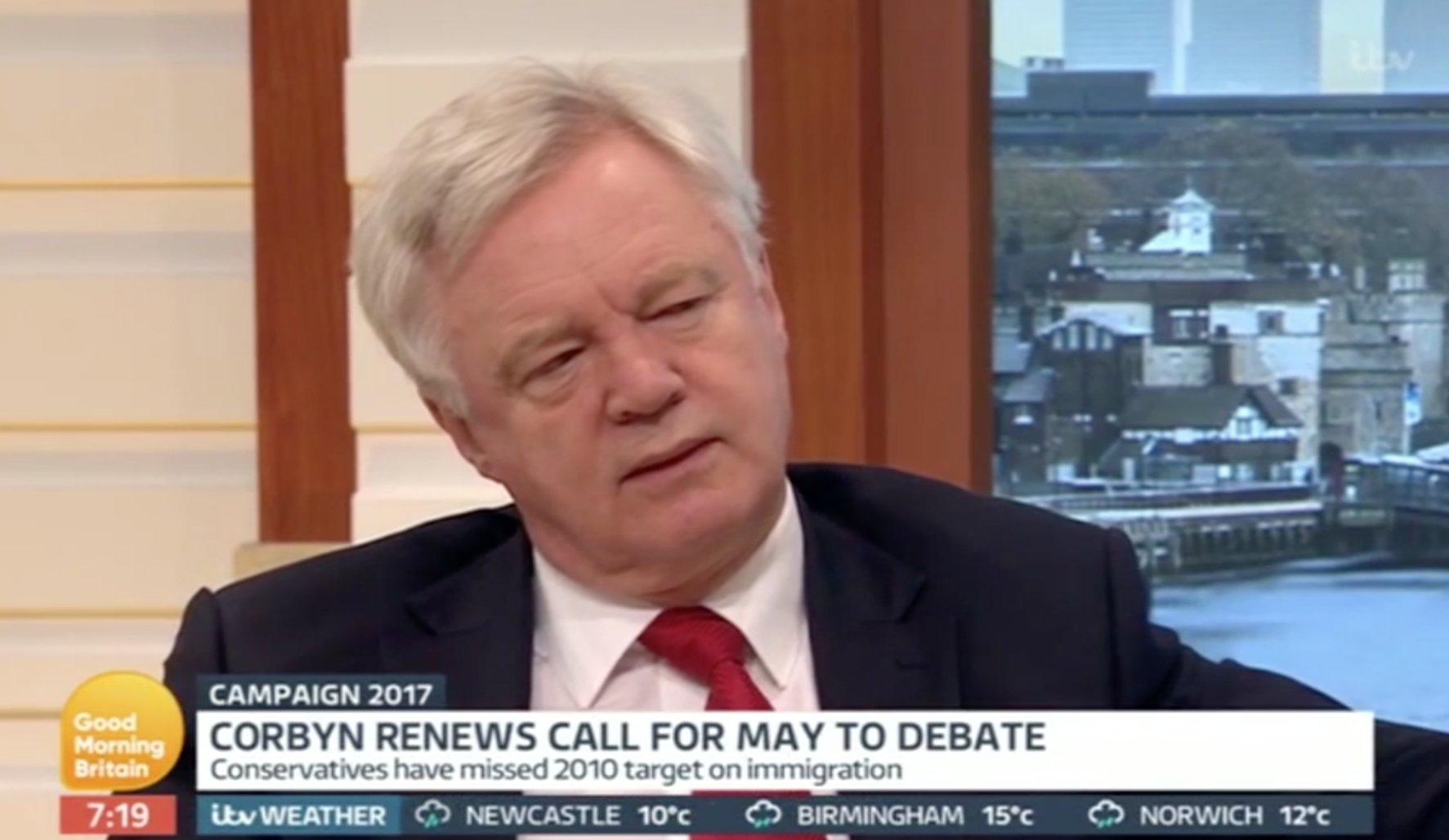 Tory David Davis squirms to justify 'dementia tax' live on TV https://t.co/xrCtoflK9W https://t.co/Wn8hj8grk5