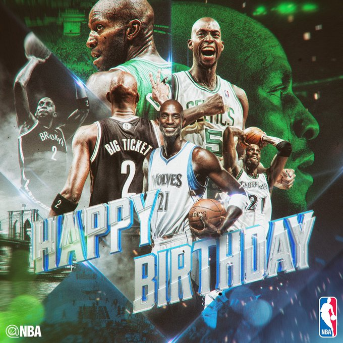 Happy 41st Birthday to 15x All-Star KEVIN GARNETT!