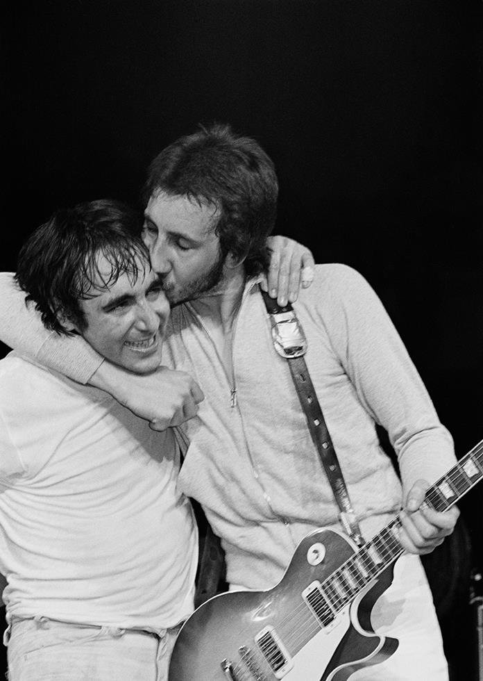 Wishing Pete Townshend a very happy birthday! Photo by Bill Green - Madison Square Garden - June 1974