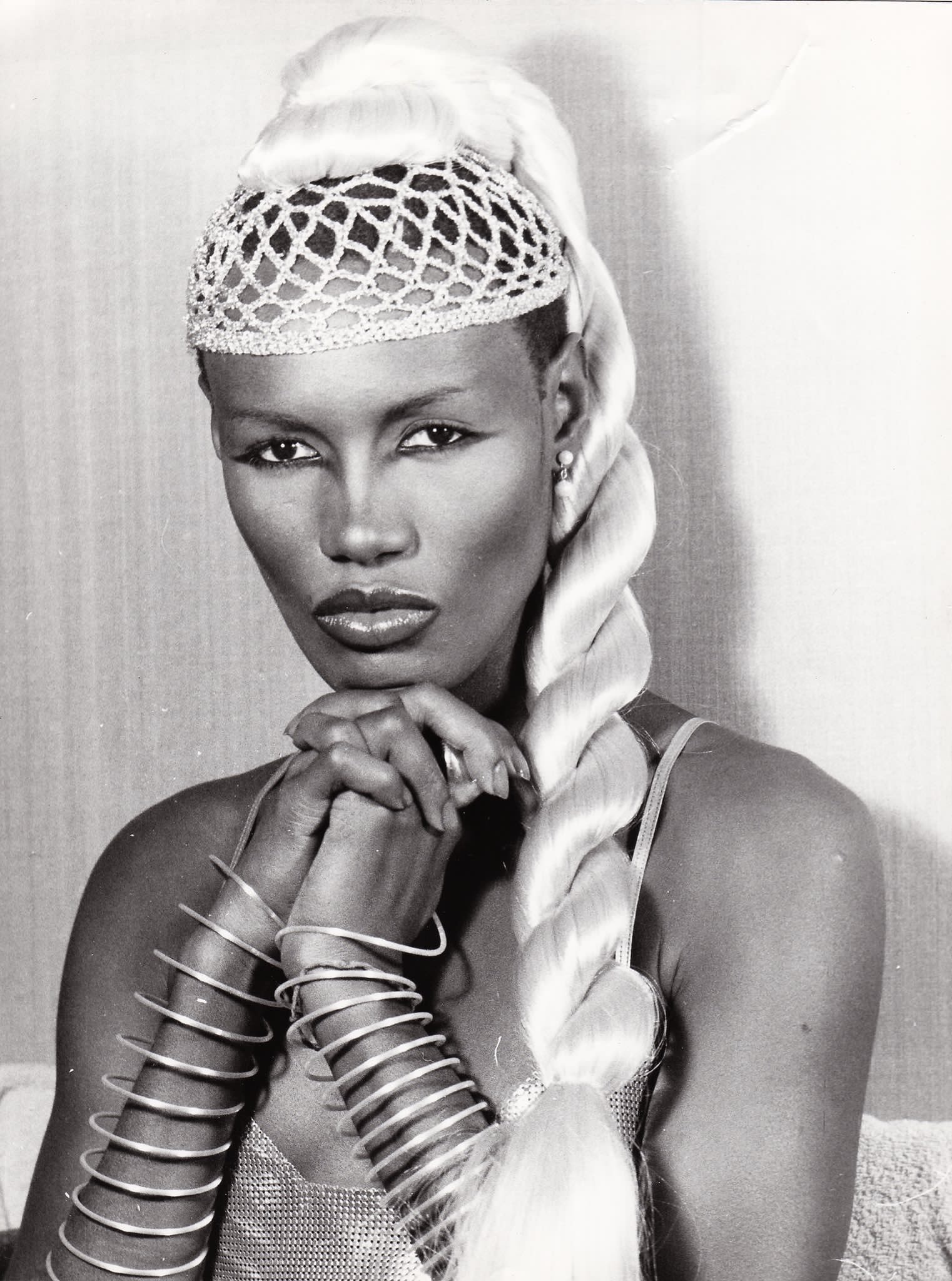 Yasss grace jones she\s everything Happy birthday to the Woman who invented bone structure