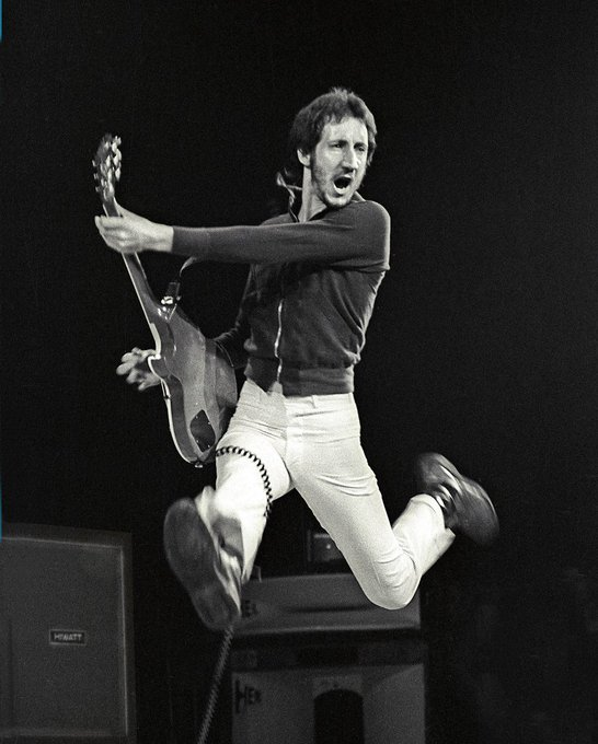 Happy birthday Pete Townshend! 72 years old and still rocking!