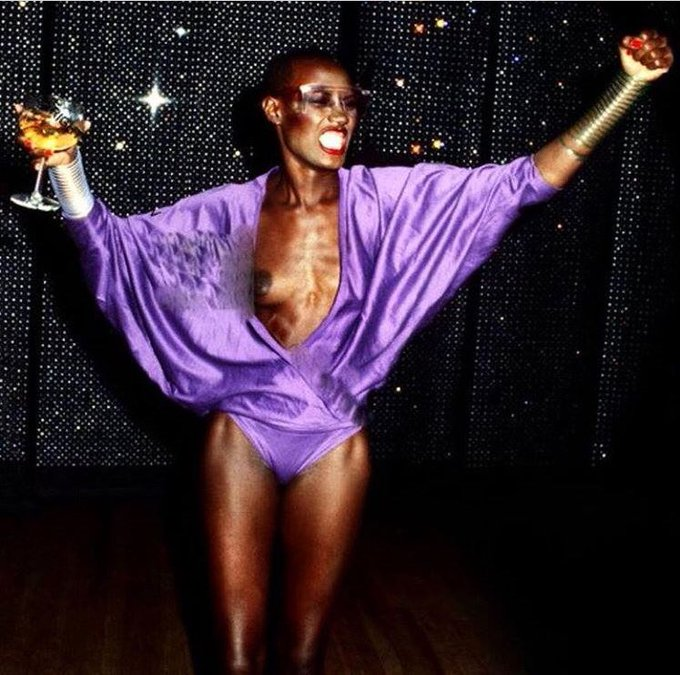 Happy Birthday to the mighty Grace Jones. And thanks to for the heads up on this for-all-time shot.