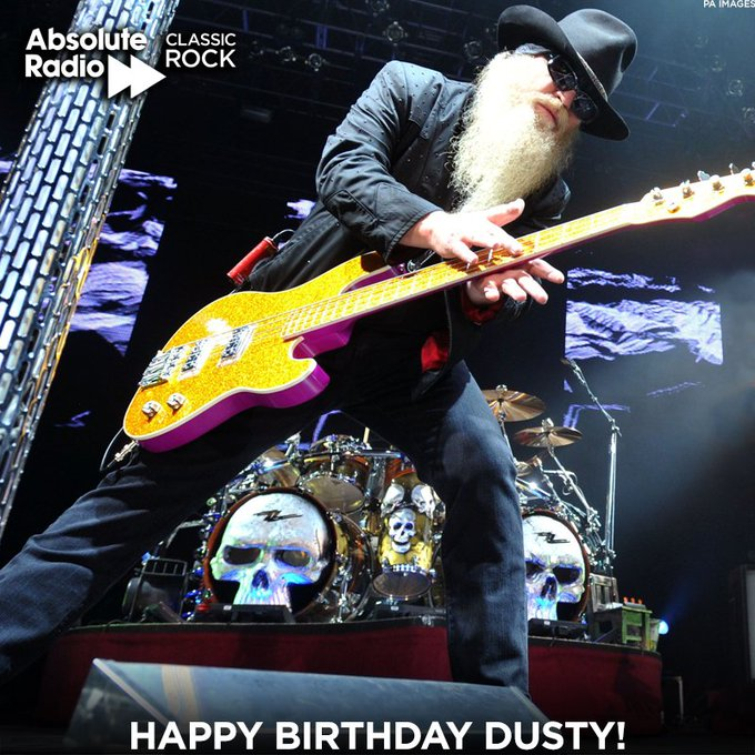Happy birthday to Dusty Hill! Hope you\re beer drinking and hell raising!