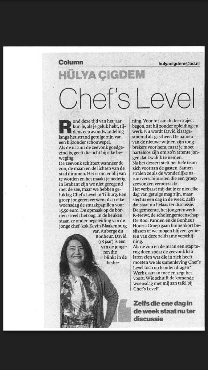 RT @floorvanberkel: Wauw! Compliment voor @chefs_level ! #rnewt
