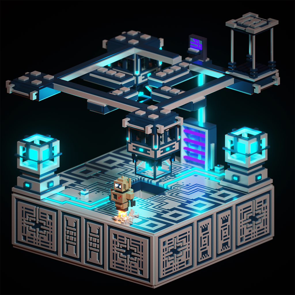 ...When #voxelart gets turned into a #VR game! @ephtracy #magicavoxel #voxels https://t.co/sOeLaDUktM