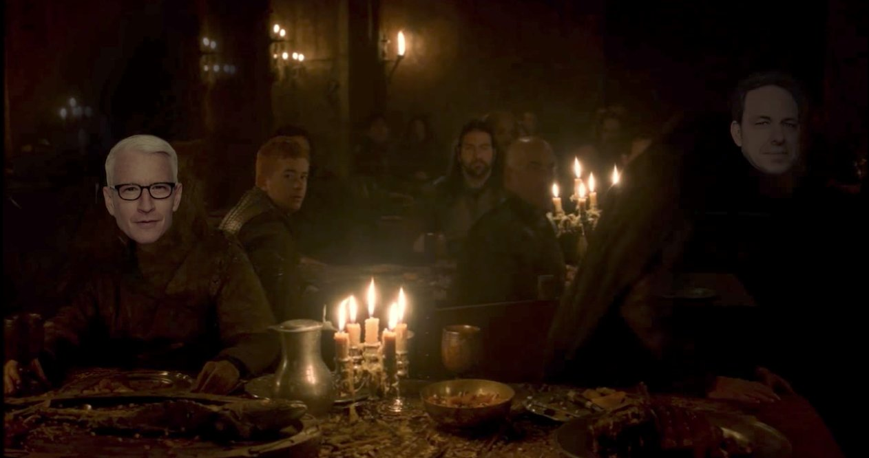 Kimmel reimagines Trump's media lunch as Red Wedding scene from Game of Thrones https://t.co/ht8lOZ8351 https://t.co/zNjz7EXYNs