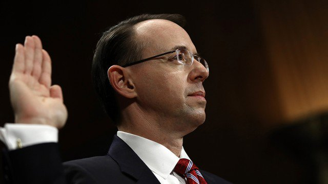 Trump's Deputy AG Rosenstein says he stands by Comey memo https://t.co/N5tU7ZONLK https://t.co/9XFvIfwDyp