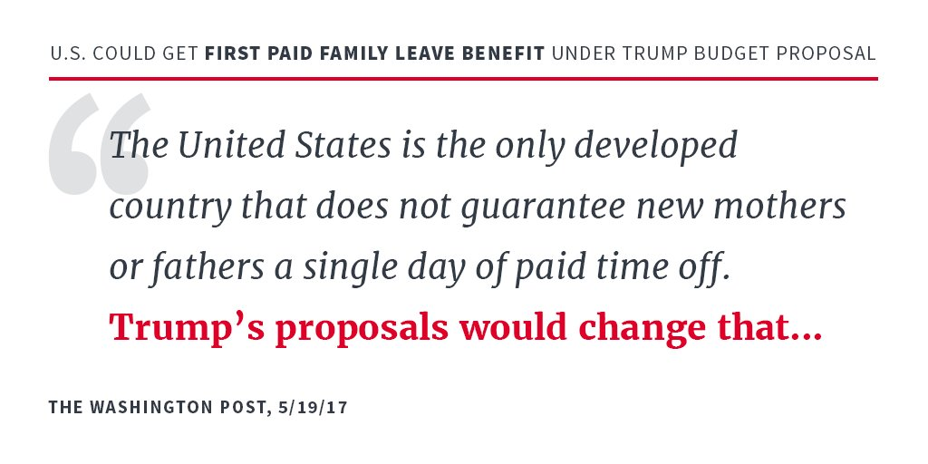 'U.S. could get first paid family leave benefit under Trump budget proposal'