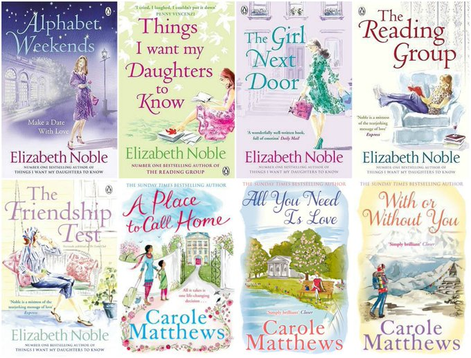 8 Wonderful Books by Elizabeth Noble & Carole Matthews Giveaway