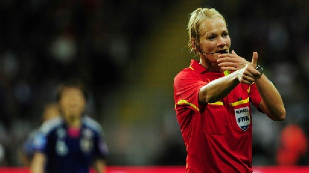 German cop is first top-flight female football ref
