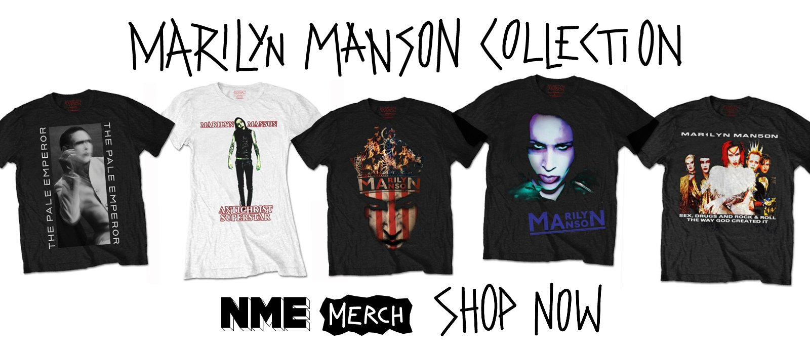 NME Merch Presents: Marilyn Manson collection https://t.co/ySmDph7T9i https://t.co/b1vN1uBvin