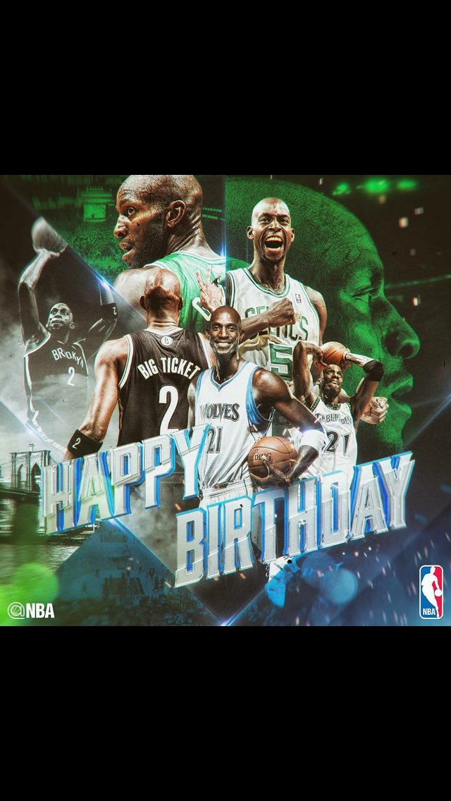 "Happy 41st Birthday to ""The Big Ticket\"" Kevin Garnett!"