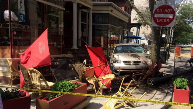 Car Crashes Through Patio of New Haven Restaurant